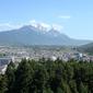 世界遺産 万古楼から玉龍雪山を望む