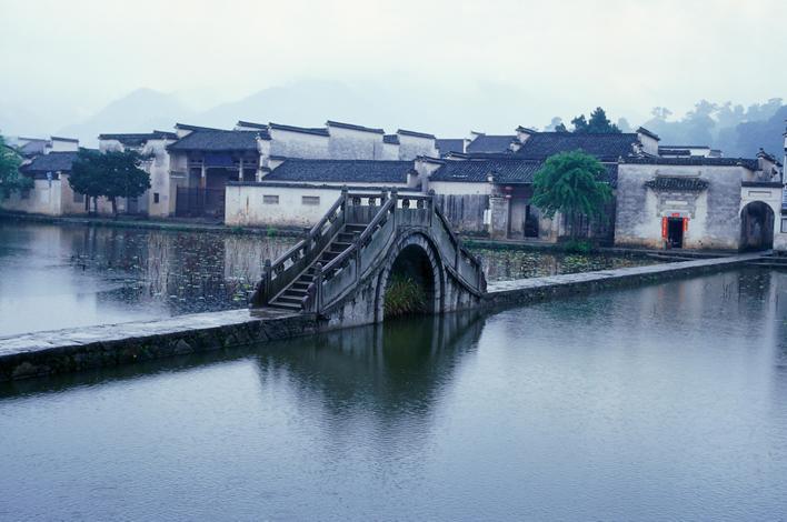 安徽省南部の古村落