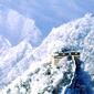 世界遺産 長城雪景色