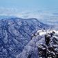 世界遺産 中岳嵩山雪景色
