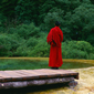 世界遺産 黄龍-チベット僧