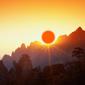 世界遺産 黄山太陽
