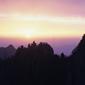 世界遺産 黄山の夜明け始信峰より