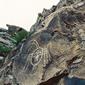 寧夏-銀川-賀蘭山の壁画(太陽神)