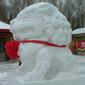 長白山雪の狛犬