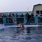 ハルピン氷雪祭り-寒中水泳