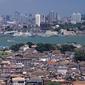 アモイ市街俯瞰(手前がコロンス)