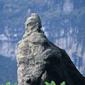 湖北-三遊洞-張飛像(三峡下りより)